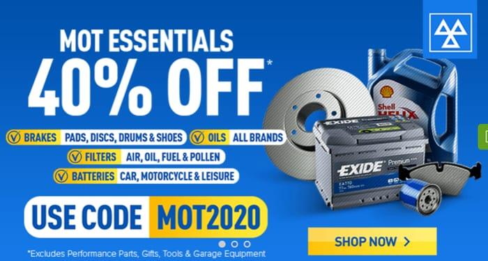 MOT Essentials 40% Off