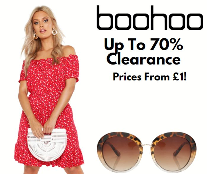 boohoo Up To 70% Off Clearance - Prices From Just £1!
