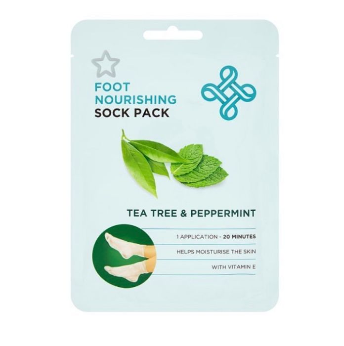 Superdrug Tea Tree and Peppermint Foot Mask & Foot Socks