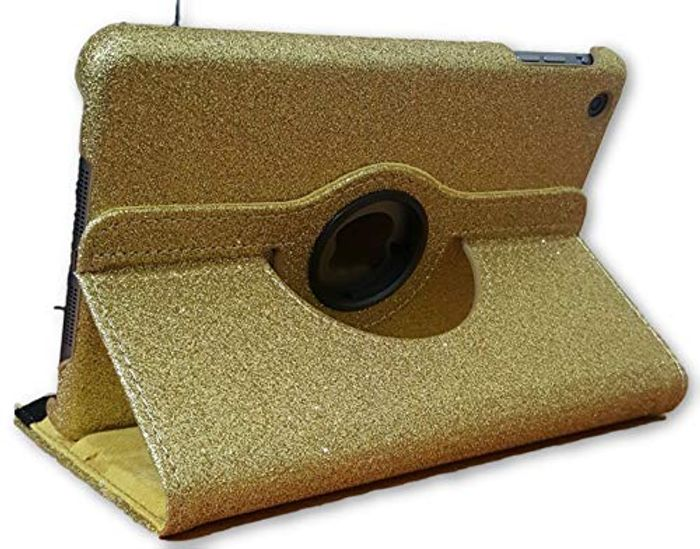 iPad Mini 2, iPad Mini 3 Case Glitter 360 Gold