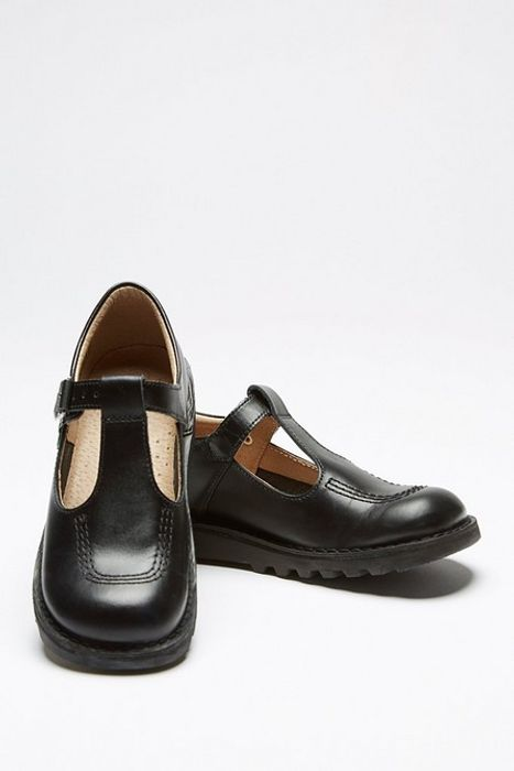 SCHOOL Girls 'Kickers' T-Bar Shoes