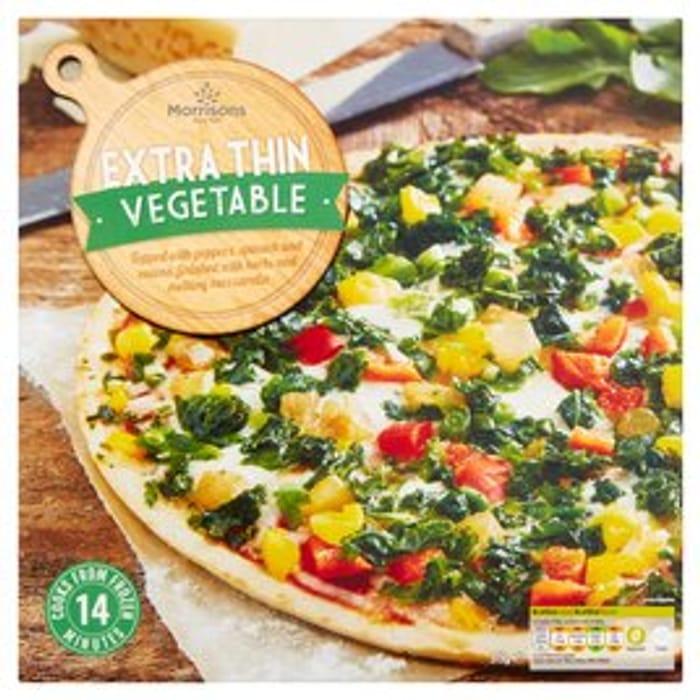 Morrisons Mediterranean Veg Extra Thin Pizza 375g