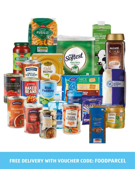 21 Item Aldi Food Parcel Only £9.99 Delivered