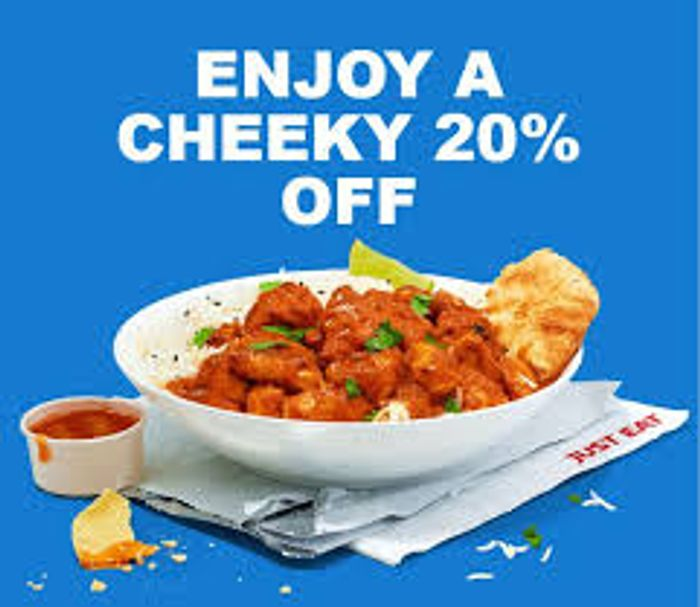 Just Eat Cheeky Tuesday - Extra 20% Off £15 Spend Every Tuesday