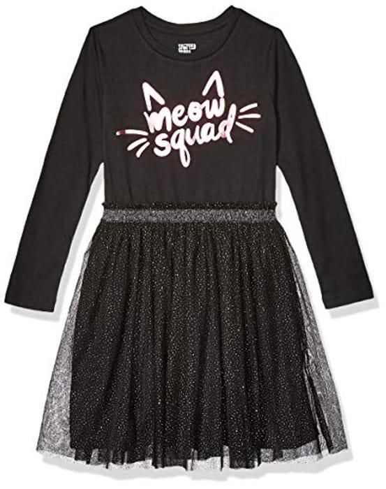 Amazon Brand - Spotted Zebra Girl's Long-Sleeve Sparkle Tutu Dresses