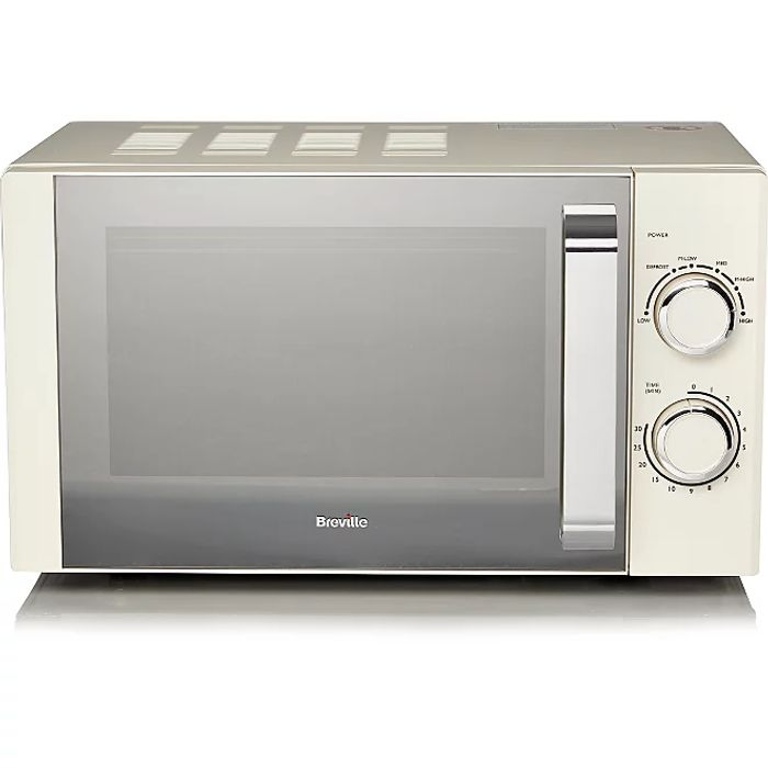 Breville Manual Microwave - Cream