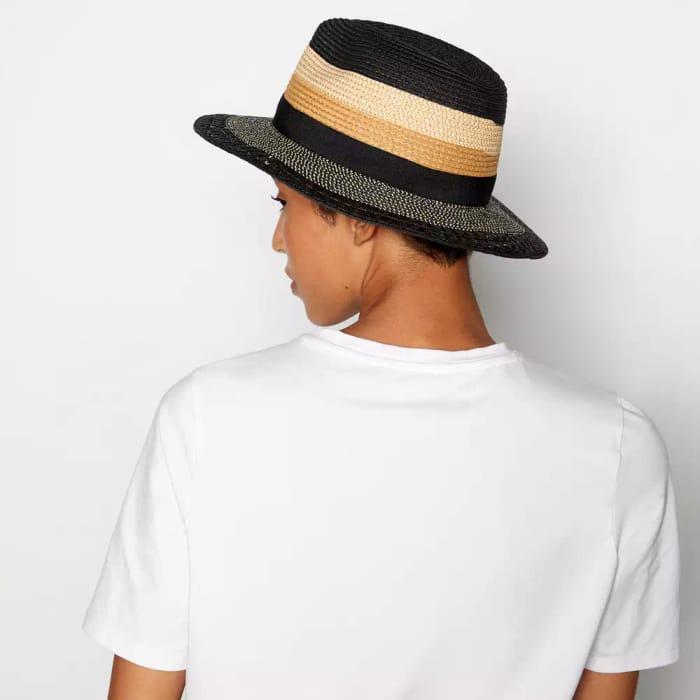 KLEY Black Mixed Fedora Hat