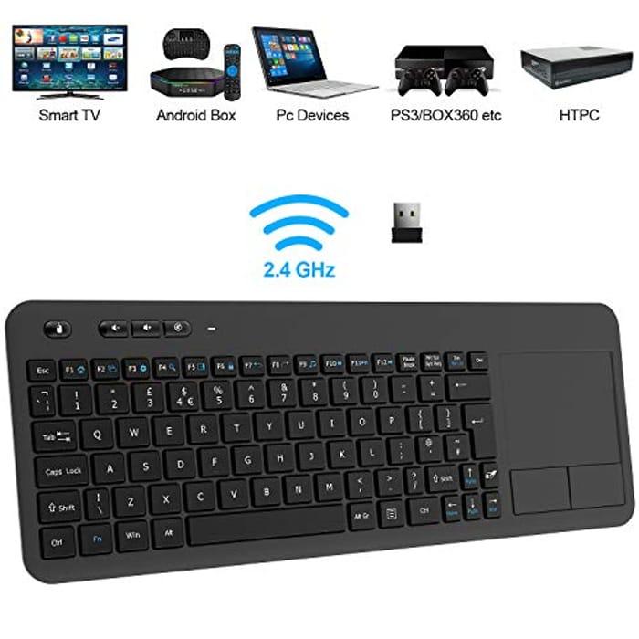 CHEAP! Wireless Keyboard, TedGem 2.4G Wireless Keyboard with Touchpad Keyboard