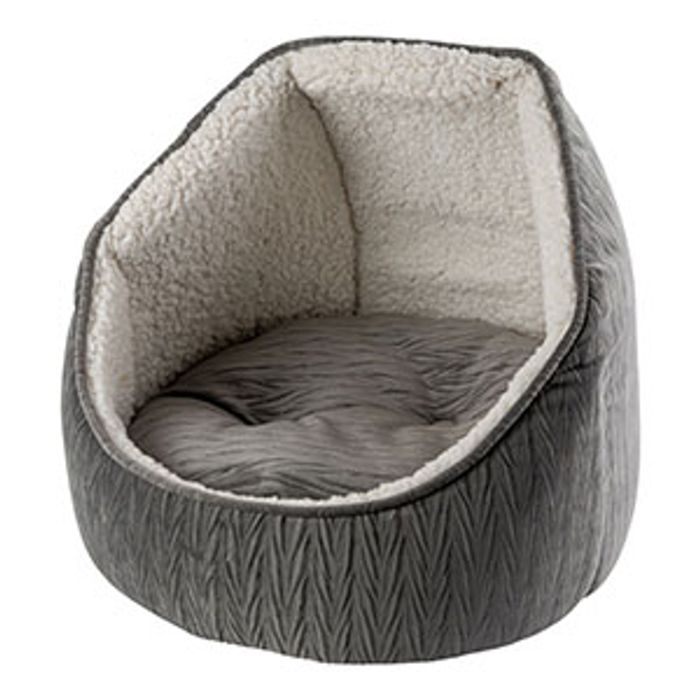 Pets at Home Ripple Hooded Cat Bed Grey