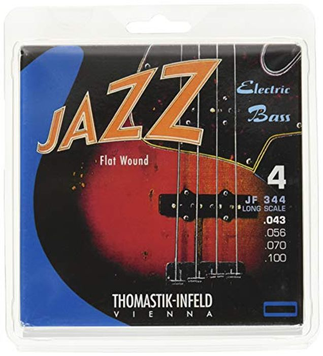 Thomastik Strings for Electric Bass Jazz Bass Flat Wound Set JF344 4-String
