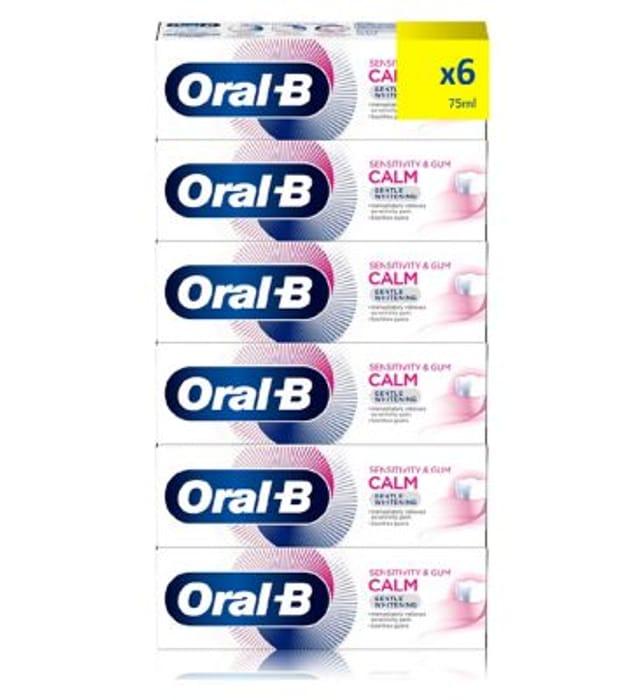 Oral-B Sensitivity & Gum Calm 6 Month Toothpaste Bundle - Gentle White