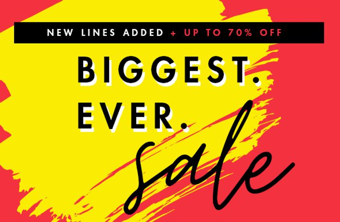EXTRA 20% off Sale! Get Ready to Fill Your baskets...