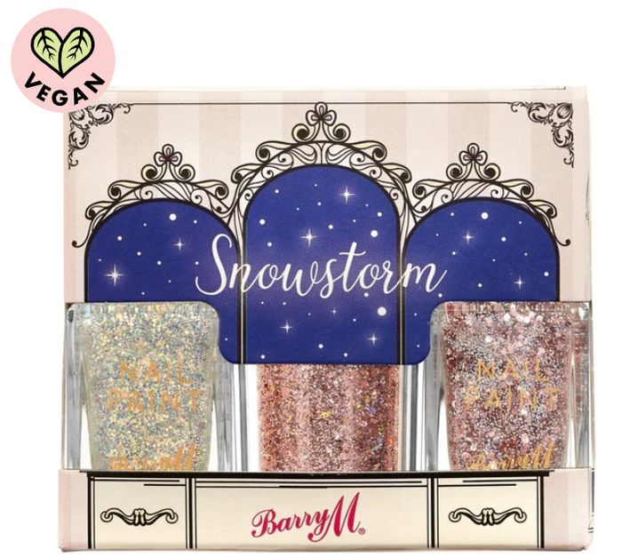 Nail & Glitter Gift Set Snowstorm
