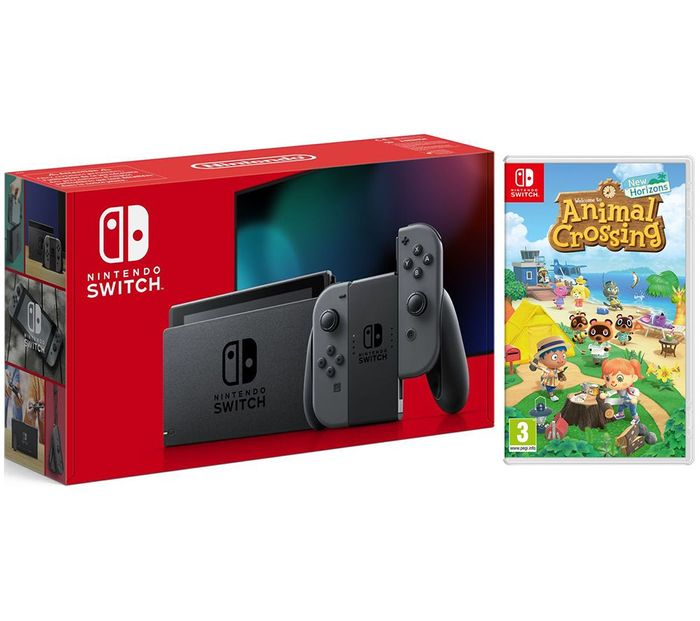 NINTENDO Switch Grey & Animal Crossing: New Horizons Bundle Only £319
