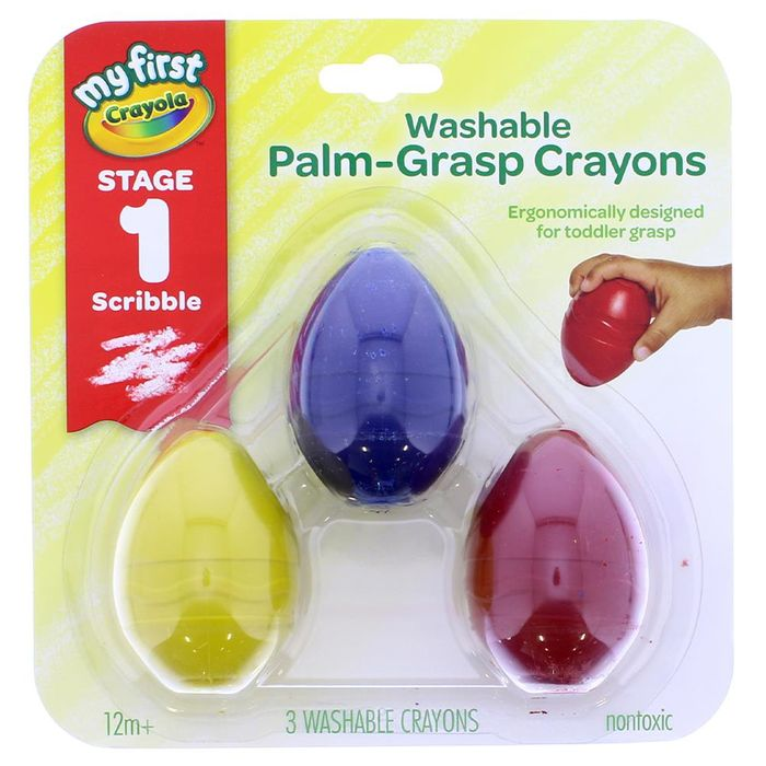 My First Crayola Washable Palm-Grasp Crayons Stage 1 Scribble