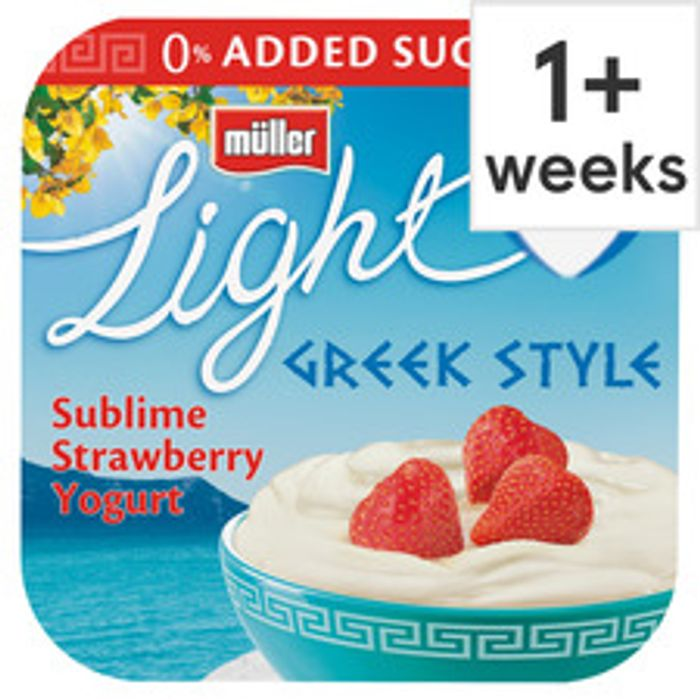 Muller Light Greek Style Yogurt 4 X 120G (All Flavours)