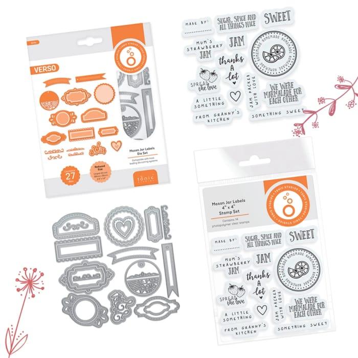Tonic Studios - Mason Jar Labels Die Set & Stamp