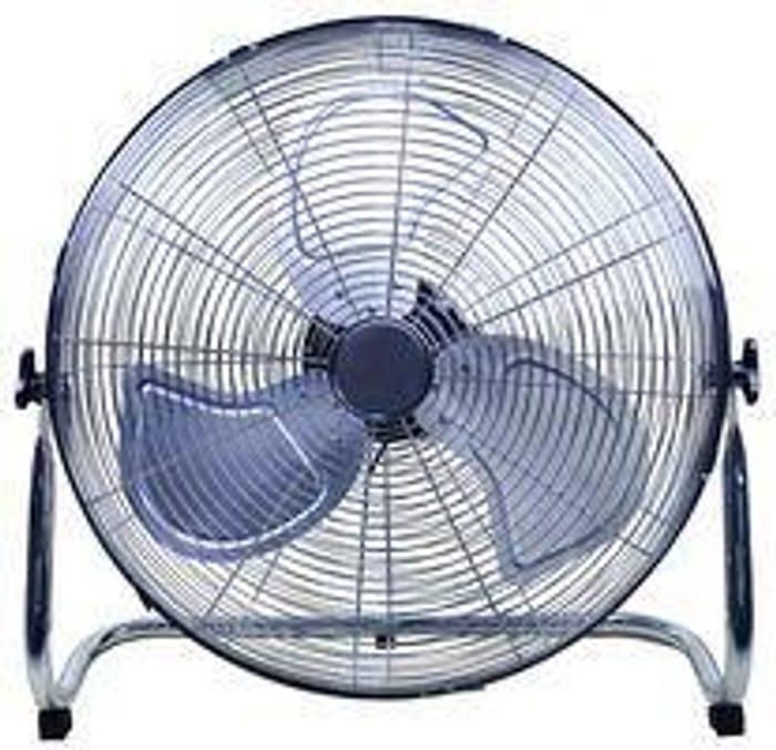 """18"""" High Velocity Floor Fan, Chrome - PEL01939 New Only £31.14"""