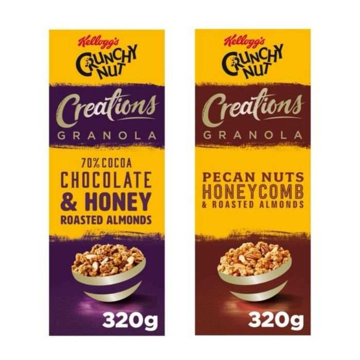 Crunchy Nut Creations - Pecan and Fudge / Cocoa and Nuts