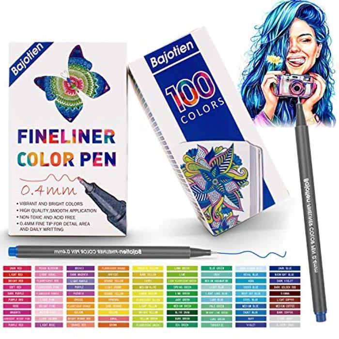 100 Fineliner Pens for Only £15.19
