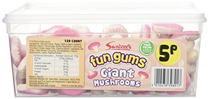 Fun Gum Giant Mushrooms Tub 120 Count
