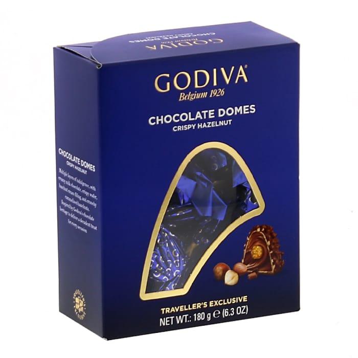 Godiva Chocolate Domes Crispy Hazelnut (12 X 180g Box)