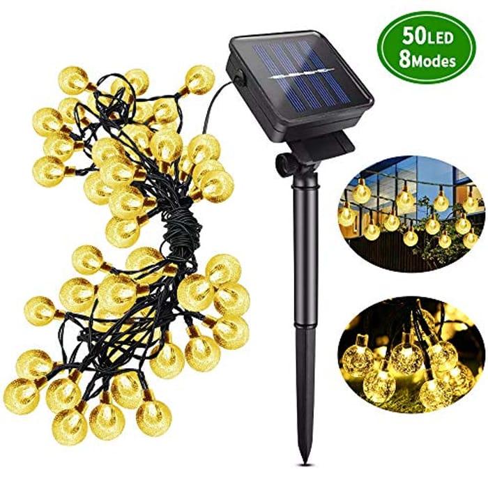 Price Drop! 50LED Crystal Ball Solar String Lights 23ft