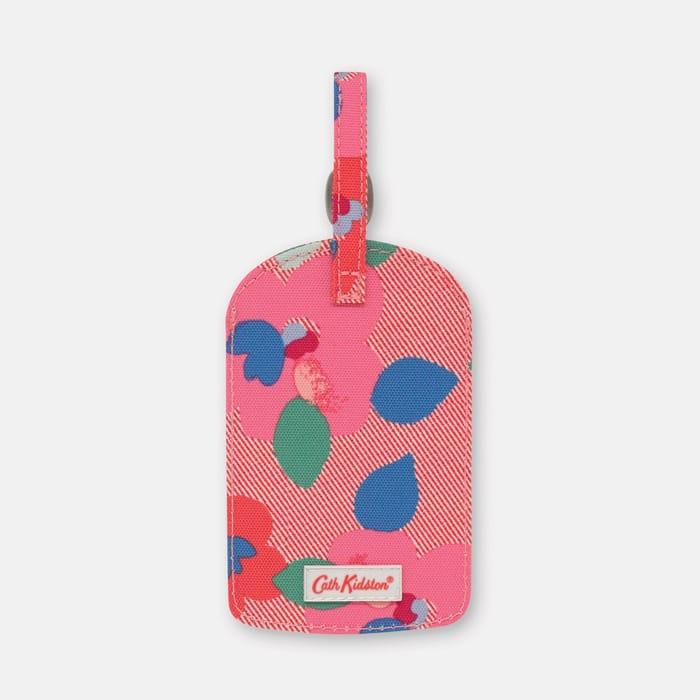 Red 'Painted Pansies' Luggage Tag