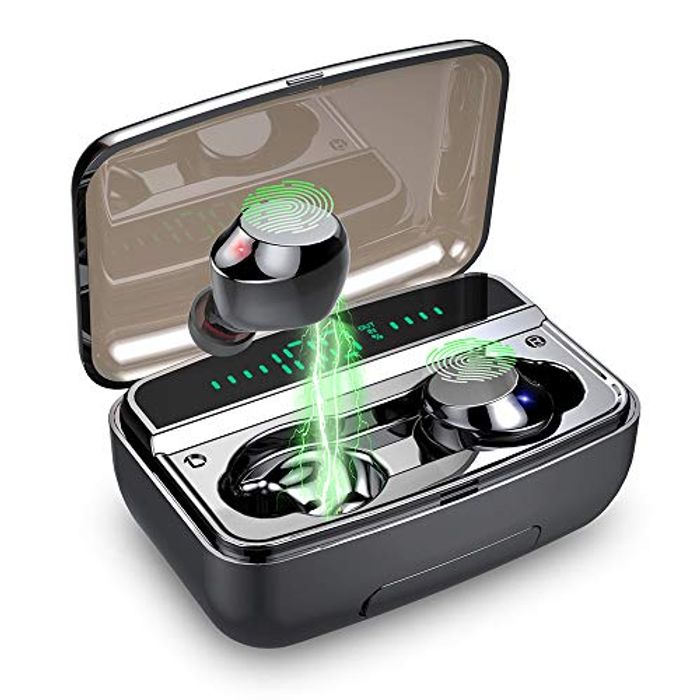 Wireless Headphones, IPX8 Waterproof Wireless Earbuds Bluetooth