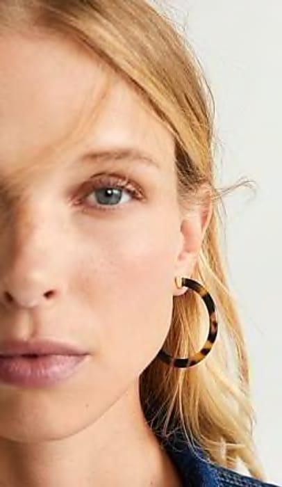 MANGO Tortoiseshell Earrings Down From £12.99 to £3.89