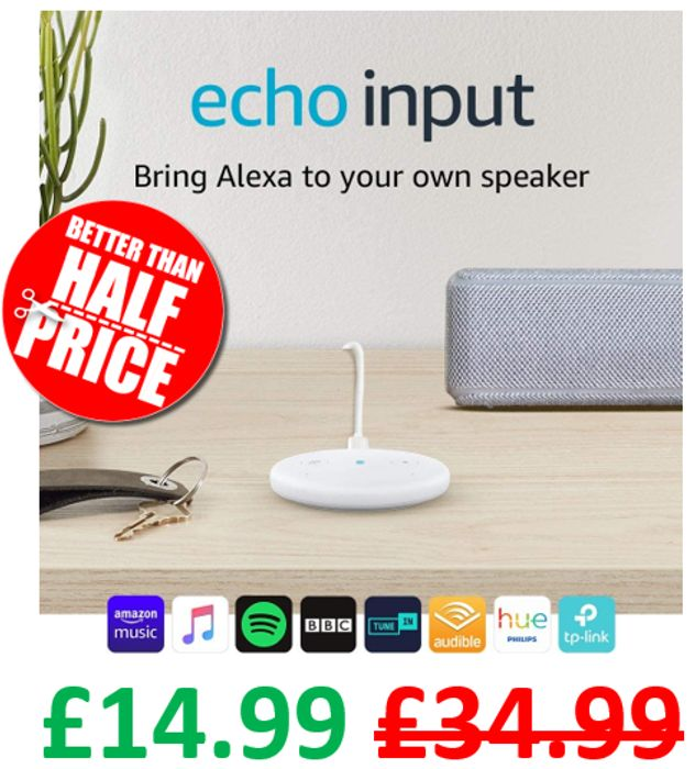 SAVE £20 - Echo Input - Bring Alexa to Your Own Speaker