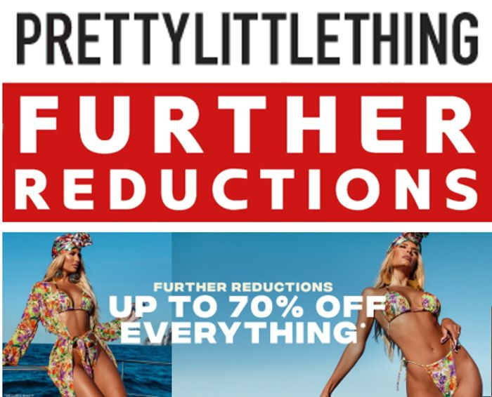 Prettylittlething - Further Reductions - Now up to 70% off Everything