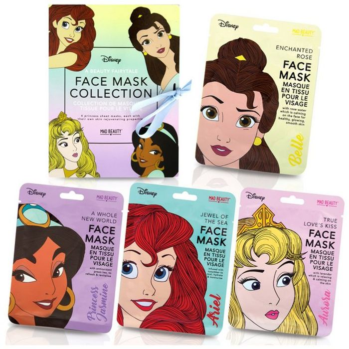Disney Princess 4 Piece Face Mask Collection - Only £8.99!
