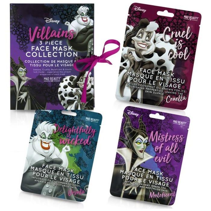 Disney Villains Sheet Face Masks Gift Set - Save £7