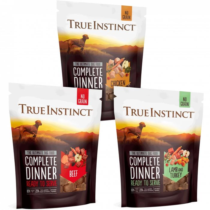 4 for 3 on True Instinct Freeze Dried Complete Dinners for Dogs