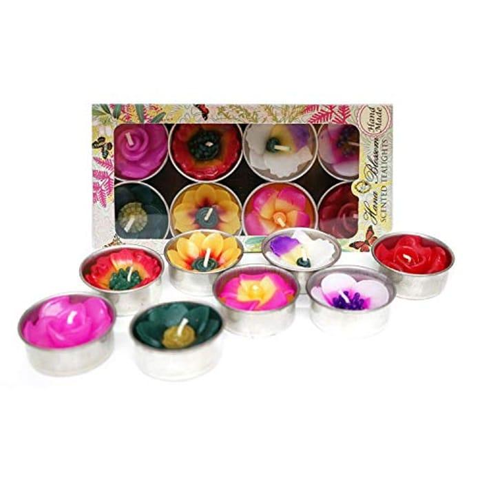 Hana Blossom Mixed 8 Handmade Fairtrade Scented Candles