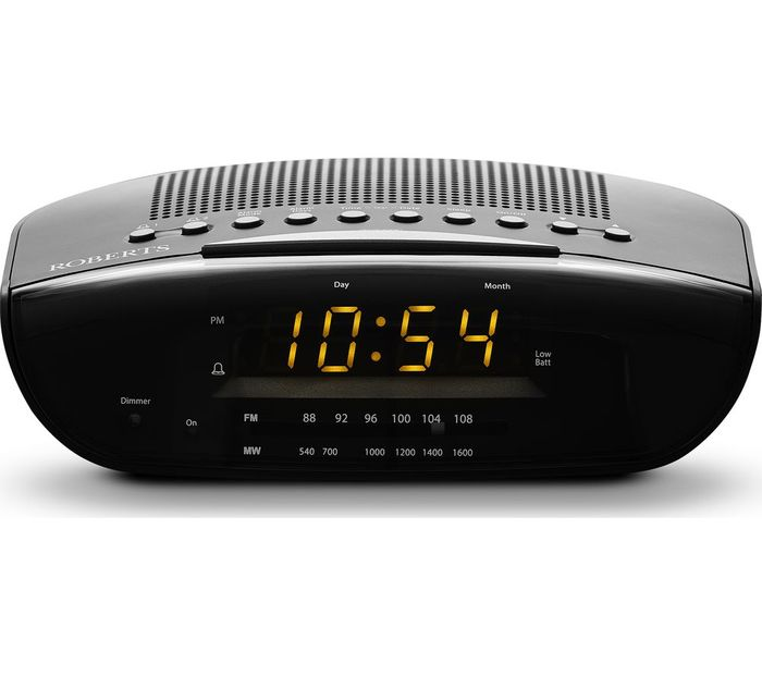 *SAVE £5* ROBERTS Chronologic VI FM Clock Radio - Black