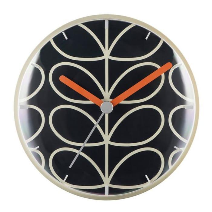 Orla Kiely Wall Clock - Slate Grey