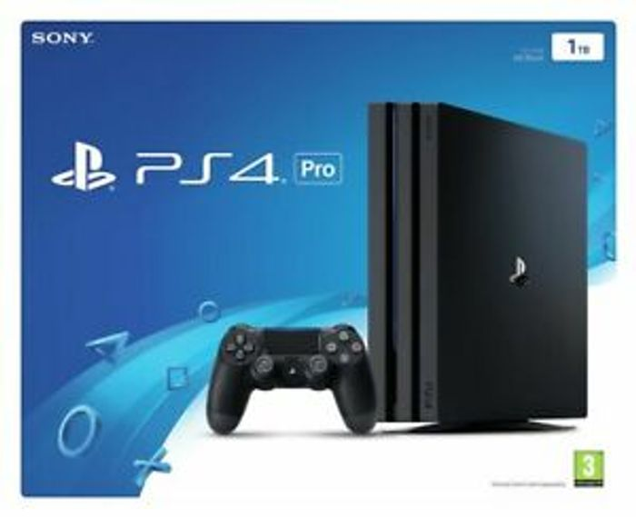 Cheap Sony PlayStation PS4 Pro 1TB 4K Console - Black - Only £349.99