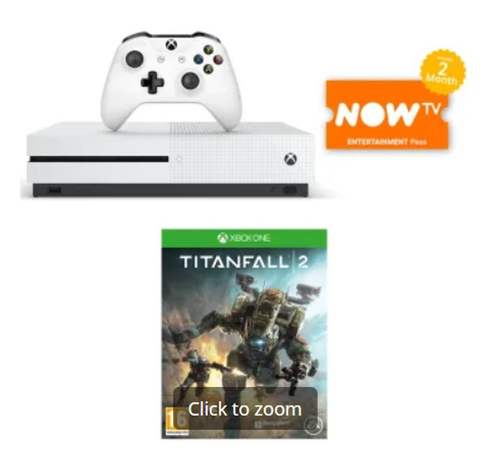 Cheap 1TB XBOX ONE S with TITANFALL 2 and NOW TV Only £249