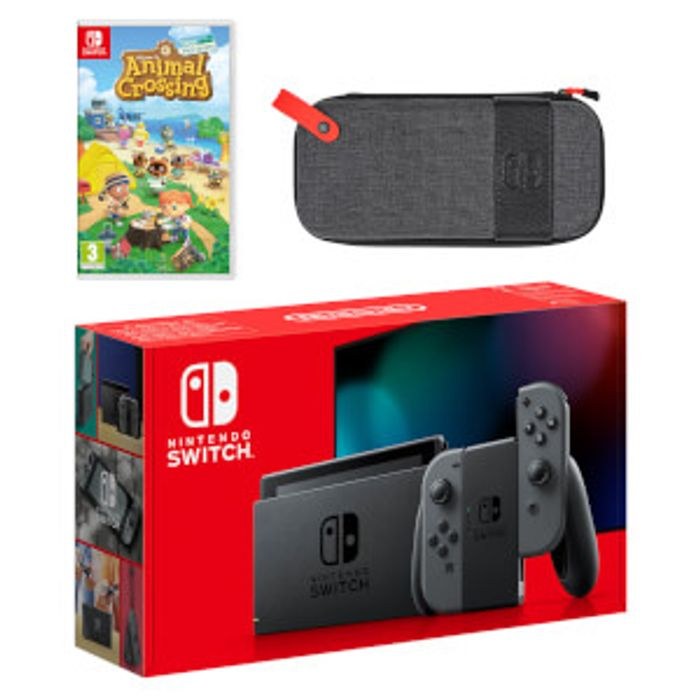 Cheap Nintendo Switch (Grey) Animal Crossing: New Horizons Pack Only £329.98