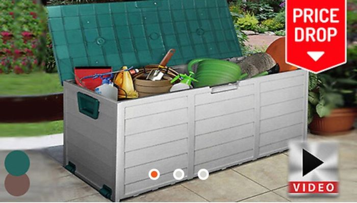 XL Heavy Duty Waterproof Outdoor Storage Box - 2 Colours