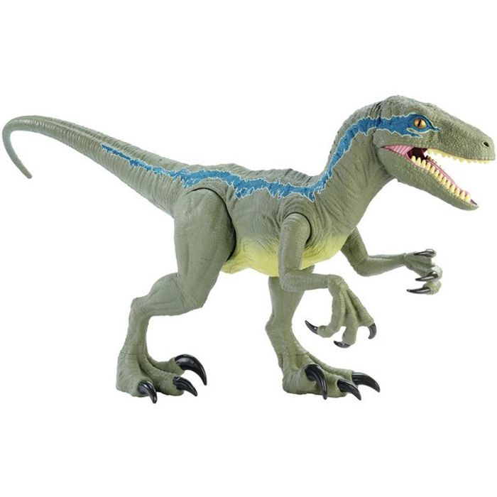 Jurassic World Super Colossal Velociraptor - Blue (43cm)