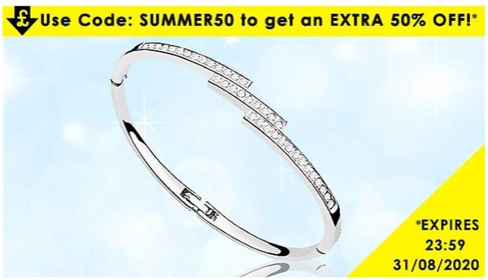 50% off Swarovski Elements Triple Crystal Row Bracelet - 1 or 2