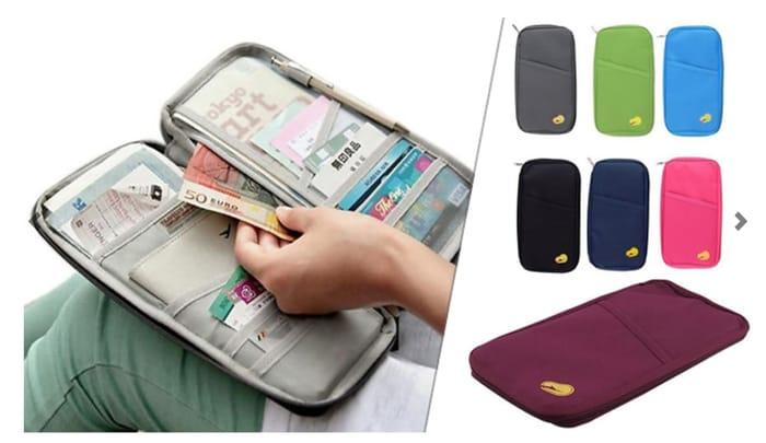 Zip-up Passport Holder - 7 Colours