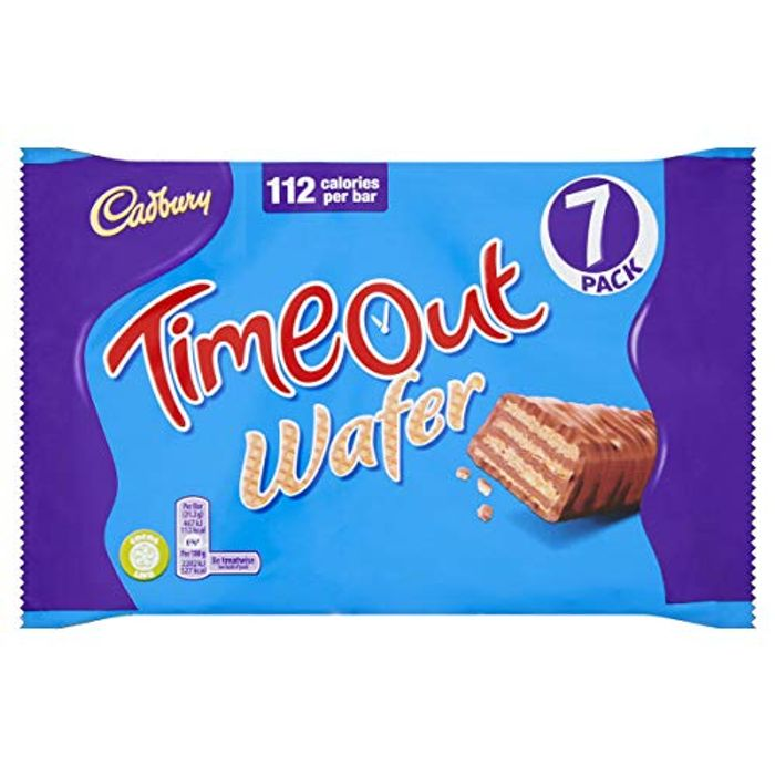 Cadbury Timeout Wafer Bars, 7 X 21.2g for £1 Free Prime Delivery