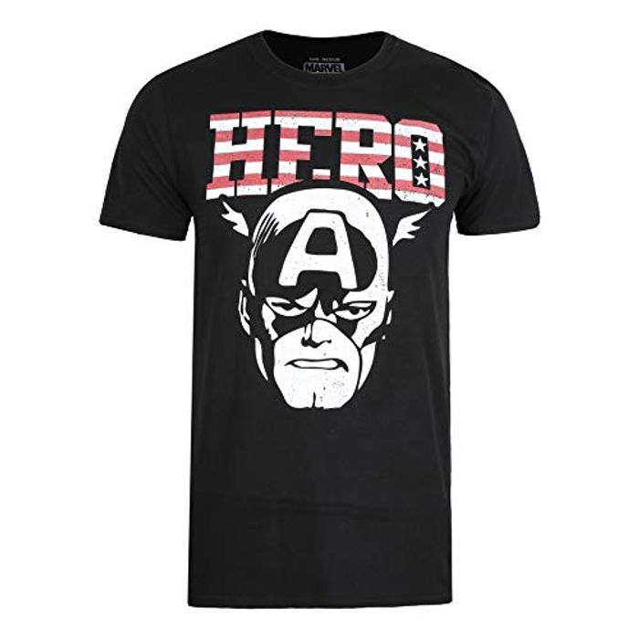Marvel Men's Hero T Shirt SML, Black