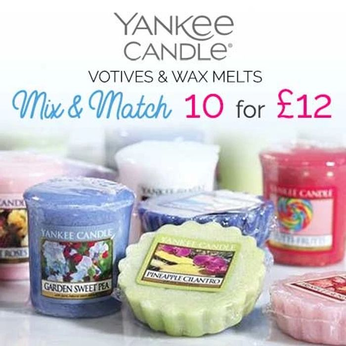 10 Yankee Votive Candle/Wax Melt for £12(MIX & MATCH BIG SELECTION)