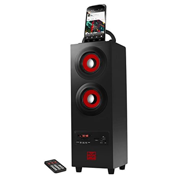 £10.37 off Sumvision Wireless Bluetooth Tower Speaker Built in Radio