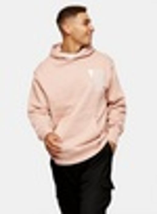 Pink around Square Hoodie